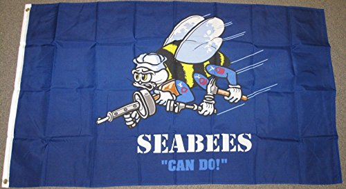 Seabees Can Do! Navy Flag 3'X5' United States Military Usn 3