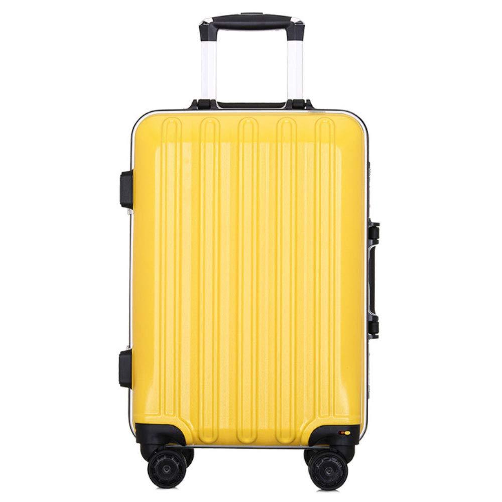 トロリーケース24インチスーツケースユニバーサルホイールスーツケース20インチ搭乗学生パスワードボックス (Color : 黄, Size : 20 inch)   B07QYR1HR5