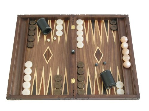 Backgammon Board Game Set with Racks - (Hand-carved Dragon Cover) - Large 19