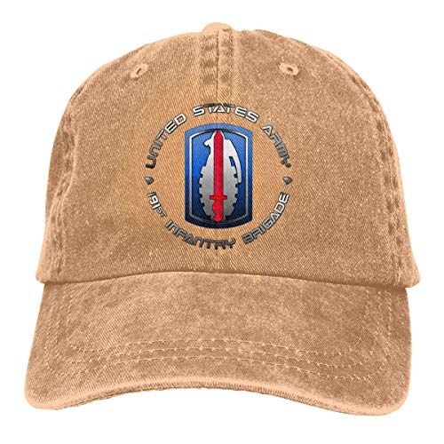 191 Infantry Brigade SSI Vintage Baseball Cap Trucker Hat for Men and Women
