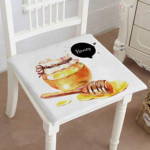 Mikihome Chair Pads Classic Design Drawn Honey Isolated Organic Natural eco on White Background Cotton Canvas Futon 32