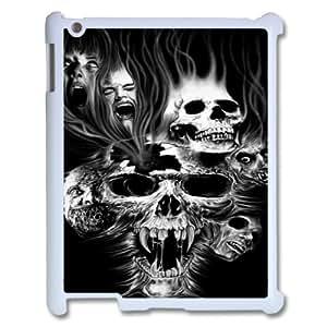 Ipad2,3,4 Skull Phone Back Case Art Print Design Hard Shell Protection LK098968