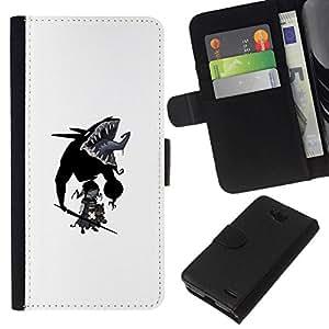 NEECELL GIFT forCITY // Billetera de cuero Caso Cubierta de protección Carcasa / Leather Wallet Case for LG OPTIMUS L90 // Goth bebé