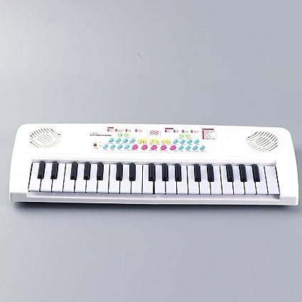 JUFENG 37 Teclas Multifuncional Mini Teclado Electrónico Piano Music Toy con Micrófono Electone Educativo Regalo para
