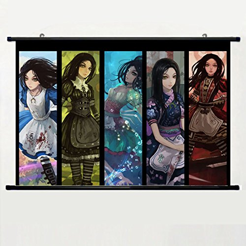 Popular And Unqiue Designed Home Decor Art Game Poster With Alice Madness Returns(1) Wall Scroll Poster Fabric Painting 24 X 16 Inch (60cm X 40 cm)