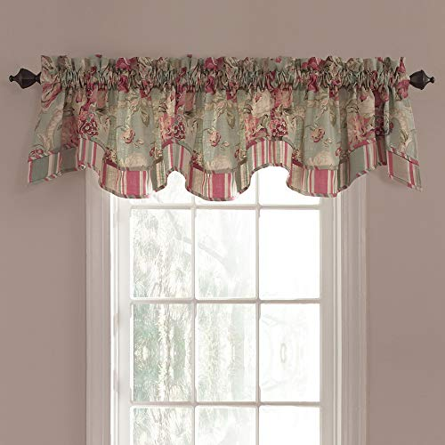 - WAVERLY Spring Bling 18-in Vapor Cotton Back Tab Valance
