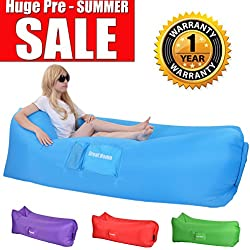 Inflatable Lounger, Hangout Bag Great Home Lazy Lounger Single Inlet Gets Inflated and Holds Air 50% Better Than Others Air Lounge Hangout Sofa Ideal for Indoors or Outdoors