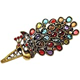 NiceEshop(TM) Lovely Vintage Crystal Peacock Hair Clip,Colorful
