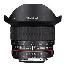 Samyang 12mm F2.8 Ultra Wide Fisheye Lens for Nikon DSLR Cameras - Full Frame Compatible