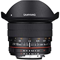 Samyang 12mm F2.8 Ultra Wide Fisheye Lens for Canon EOS EF DSLR Cameras - Full Frame Compatible