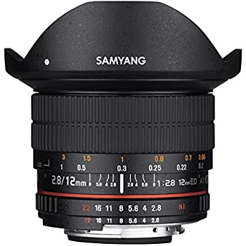 Samyang 12mm F2.8 Ultra Wide Fisheye Lens for Nikon DSLR Cameras - Full Frame Compatible