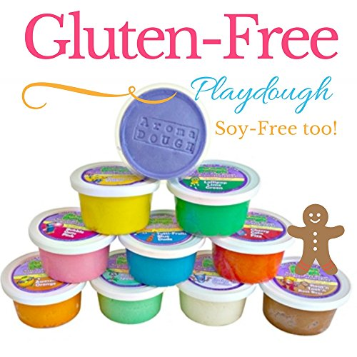 Aroma Dough Gluten Free Soy-Free Playdough For Kids, Eco Friendly Set (10 Pack)