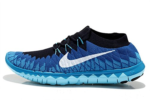the best attitude 221d2 5babf ... promo code nike 3.0 flyknit blue running shoes for mens 9c89f 75685