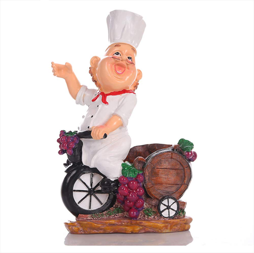 Keoa Wine Rack Resin Crafts Cartoon Chef Home Decoration Ornaments Hotel Restaurant Supplies Creative Gifts