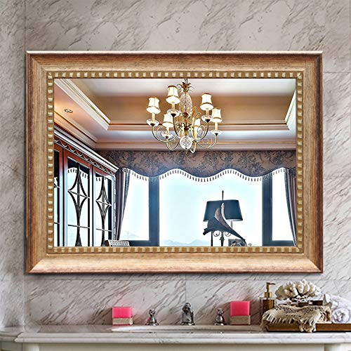 ElevensMirror Large Rectangular Bathroom Mirrors Wall Mounted Mirrors for Living Room/Bedroom/Living Room, High Polymer Material Frame (32