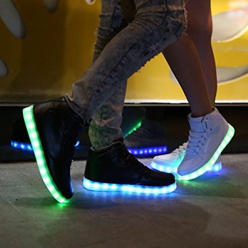 Lumineuse Homme Ou Basket Garçon Dogeek Femme Chaussures Led AL35j4R