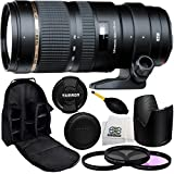 Tamron SP 70-200mm f/2.8 Di VC USD Zoom Lens Canon 77mm 3 Piece Filter Kit (UV+FLD+CPL), Dust Blower, Lens Backpack & Microfiber Cleaning Cloth - International Version (No Warranty)