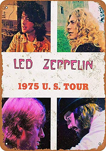 Nice Road Signs Led Zeppelin U.S. Tour - Retro Art Warning Decorative Tin Sign .12 x 8 inch