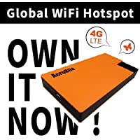 Global WiFi Hotspot- International 4G LTE Mobile Router- Sim-free Pocket Mifi/Unlimited Data/Pay as you go/Coverage over 100 countries in Europe, Asia, America, Australia and Africa