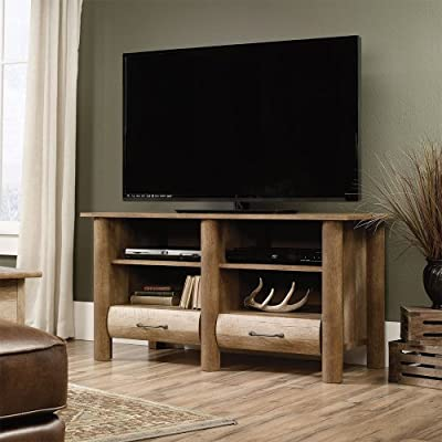 """Boone Mountain TV Stand with Two Drawers 47""""W - Construction: laminate Drawers: two Shelves: four (two adjustable) - tv-stands, living-room-furniture, living-room - 51G8VeorcoL. SS400  -"""