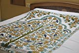 Christmas gift Embroidered Queen size bedspread with matching pillow cases