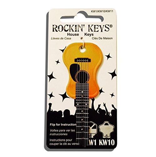 - Acoustic Guitar Shaped Rockin' Key Kwikset KW1 KW10