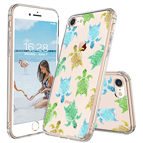 MOSNOVO iPhone 8 Case/iPhone 7 Case, Sea Turtle Pattern Clear Design Printed Transparent Plastic Hard Back Case TPU Bumper Protective Case Cover for Apple iPhone 7 / iPhone 8