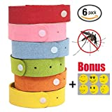 Mosquito Repellent Bracelet by Finita Pesto - Non-Toxic - SAFE for Children and Pets - All natural and long lasting - PACK of 6 Bracelets