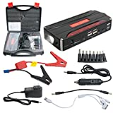 Automotive Battery Charger Jump Starter Best Deals - uxcell 600A Peak Current Portable Car Jump Starter with 12000mAh 4USB Power Bank Emergency Car Battery Booster Pack Vehicle Jump Starter Charger SOS Flashlight