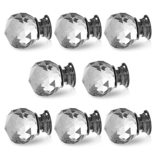 6PCS/LOT Diameter 50mm Crystal Glass Door Knobs Cabinet, used for sale  Delivered anywhere in USA
