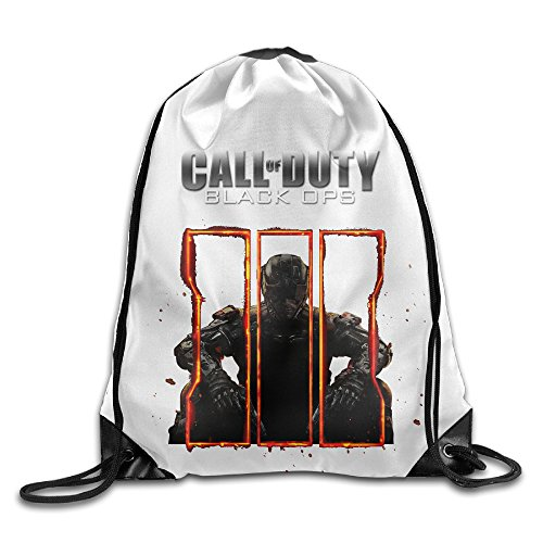 Price comparison product image Creative Design Black Ops 3 Call Of Duty Game Logo Drawstring Backpack Sport Bag For Men And Women