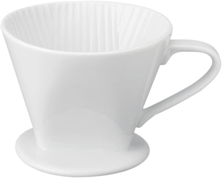 Coffee Maker Porcelain Filter Cone 2 Cup Pour Over Brew Loose Leaf Tea Brewer !