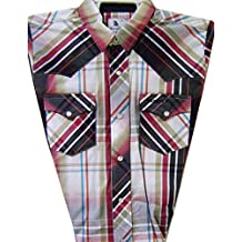 Modestone Boy`s Checked Long Sleeve Fitted Western Shirt Red
