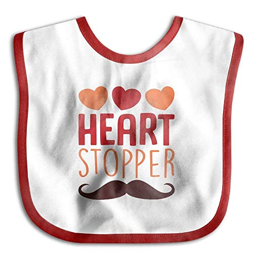 Price comparison product image Heart Goatee Stopper Funny Absorbent Baby Soft Toddler Bib
