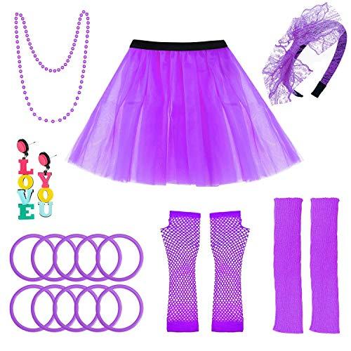 selizo 80s Accessories for Women, 80s Costumes for Women -