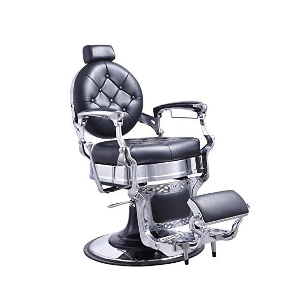 Buy Heavy Duty Barber Chair Men's Grooming Barbershop Hydraulic Chair