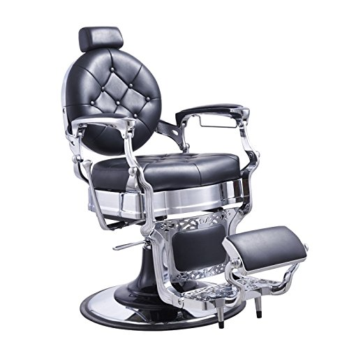 (Heavy Duty Barber Chair Men's Grooming Barbershop Hydraulic Chair - Vanquish)