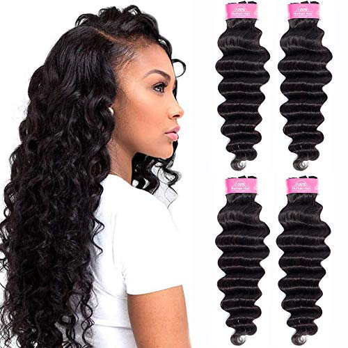 FQ Brazilian Loose Deep Wave Human Hair 4 Bundles(24