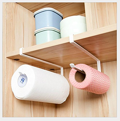 Lavenz Wall Mounted kitchen paper holder Towel Rack bathroom shelf Toilet Sink Door Hanging Organizer Storage Hook Holder Rack