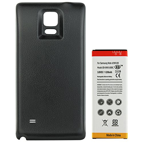 Extra Capacity Battery Door - Long Life 8200mAh High Capacity Extended Battery with Black