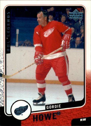 2000 Upper Deck Legends Hockey Card (2000-01) #41 Gordie Howe Near Mint/Mint