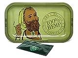 Zig Zag Hemp Rolling Tray with Leaf Lock Gear Smell Proof Tobacco Pouch