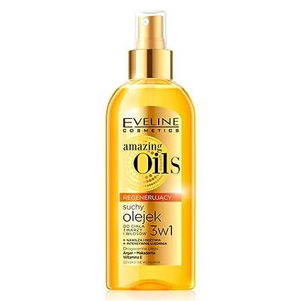 Eveline Cosmetics Amazing aceites aceite de regeneración 3 in1 Cuerpo Pelo Facial Argán Nueces de Macadamia