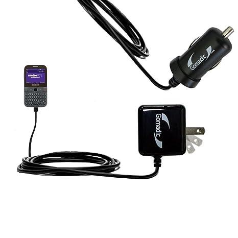 Amazon.com: Gomadic - Kit de cargador de coche y pared para ...