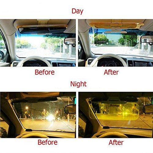 Auto Blendfreie Windschutzscheibe Sun Shield Sun Visor Blendschutz klaren Blick Tag /& Nacht UV-Blocker