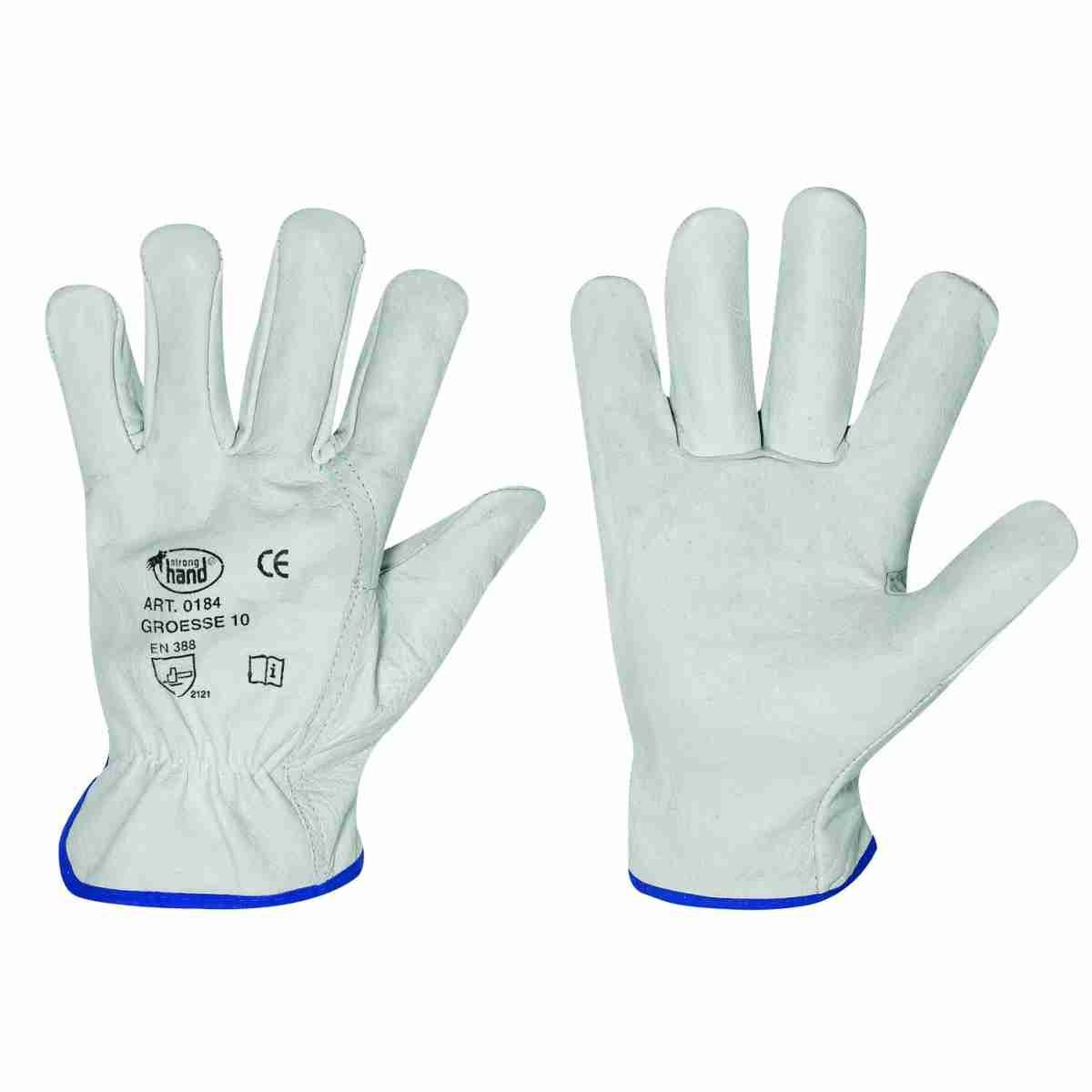 Driver Handschuhe 12 Paar Rindvollleder Schutzhandschuhe Stronghand