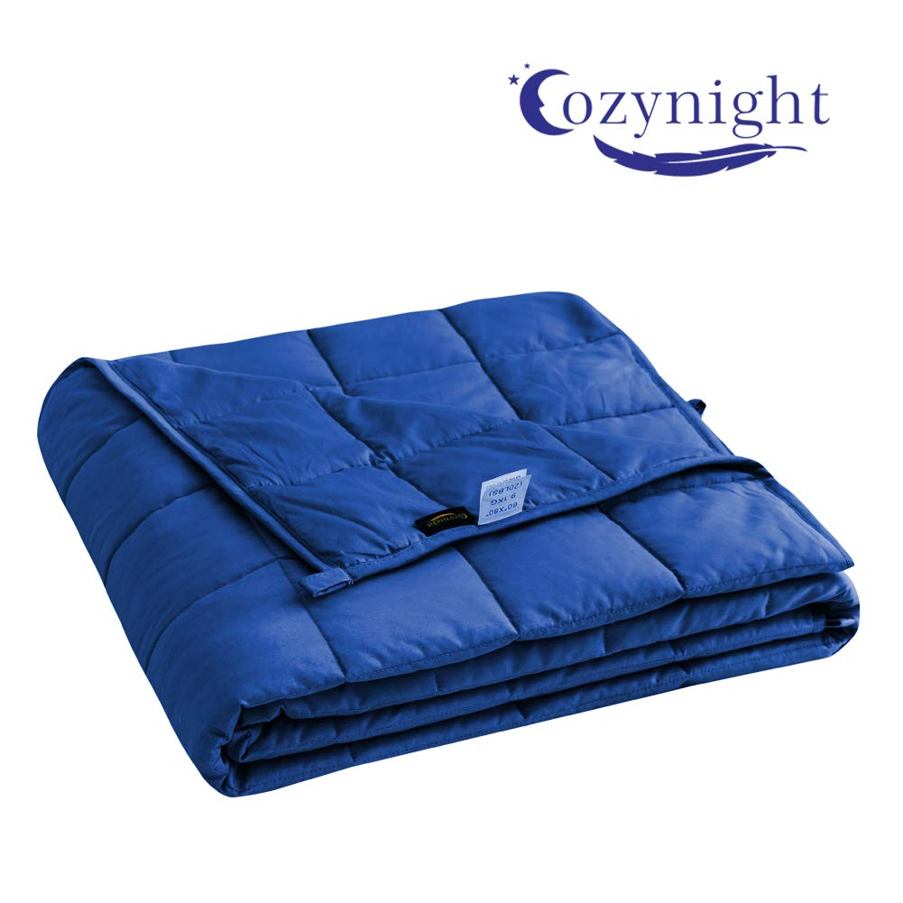 Cooling Cotton with Glass Beads for Kids Cozynight Cooling Weighted Blanket 5 lbs Heavy Blanket 36x48