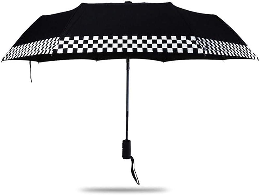 Automatic Folding Up Compact Umbrella Black Checkered Flag for MINI Cooper F55 F56 R60 F60 R56 R57 R58 R59
