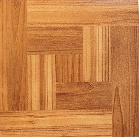 NEW 50 VINYL FLOOR TILES Parquet Square Brown Dark Pine Wooden Floor