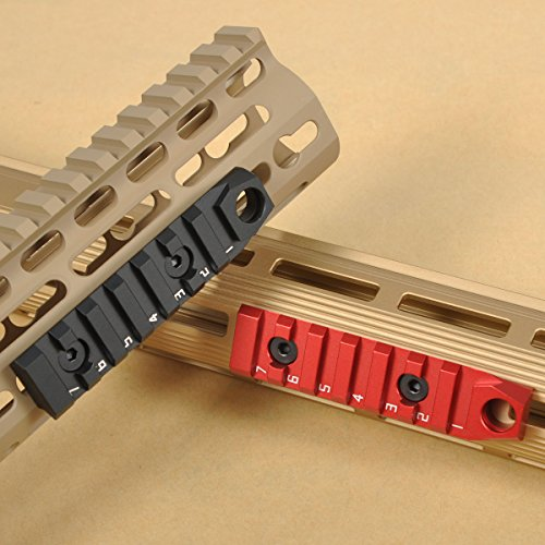 TuFok M-lok Picatinny Rail Aluminum - M lok Picatinny Rail Section, Rifle Rail Mount Adapter with 3/8